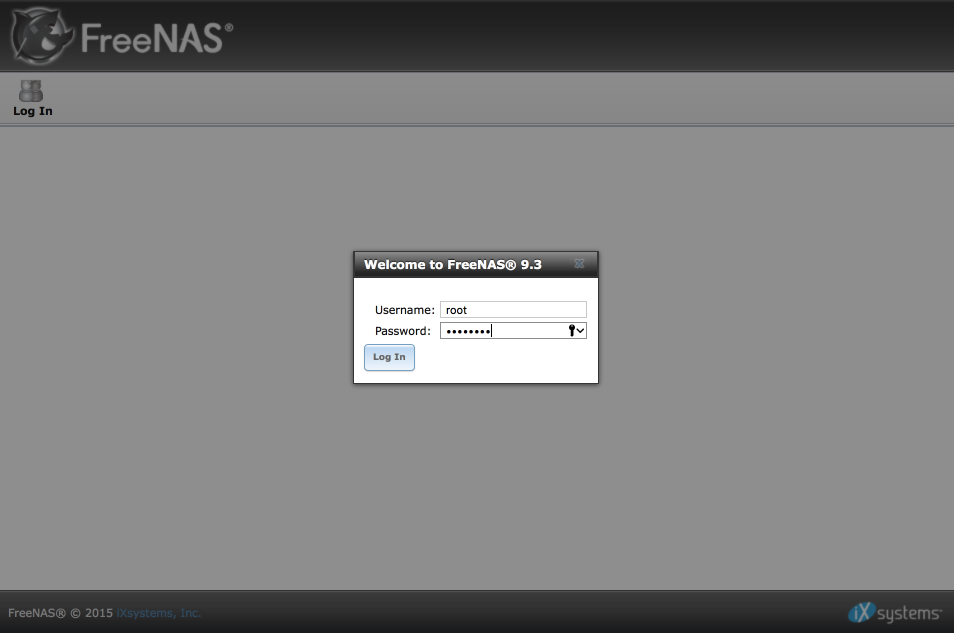 FreeNAS install and configuration