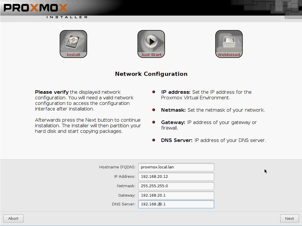 Proxmox 4 2 install