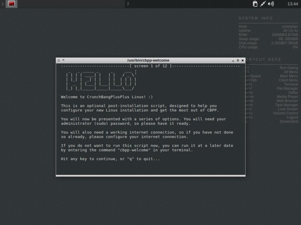 Proxmox Linux VM baseline