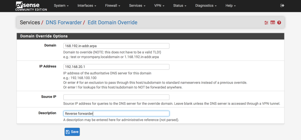 DNS Forwarder Domain Override