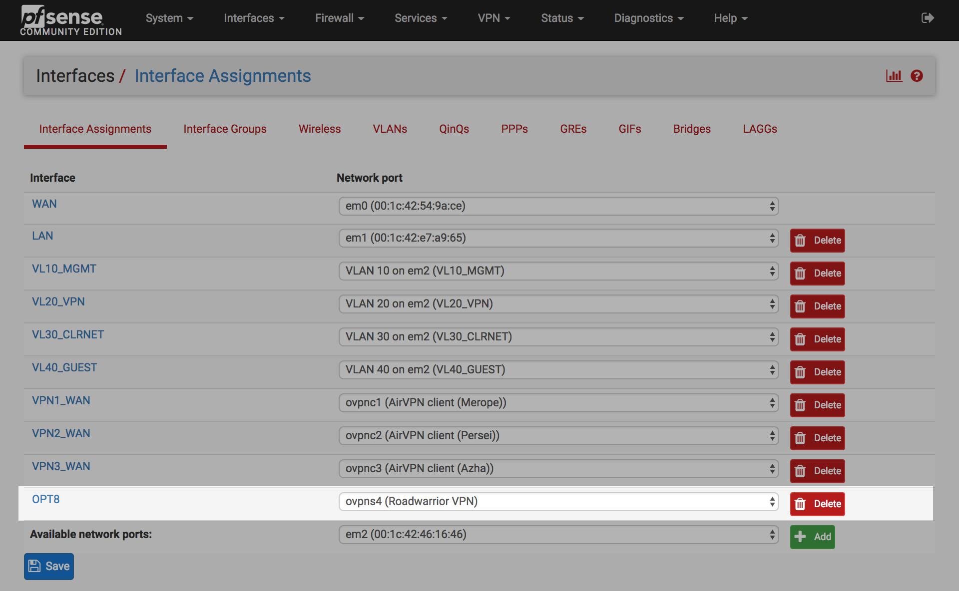 pfSense remote access via OpenVPN