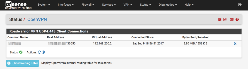 pfSense remote access via OpenVPN
